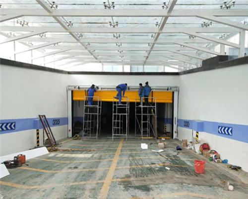 蘭州招標中心中置電機8.5米快速堆積門